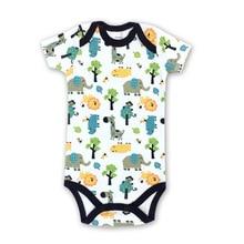 Купить с кэшбэком 1 pieces baby clothes cotton short-sleeved bag fart clothing  short-sleeved jumpsuit romper children's clothing grils &Boys
