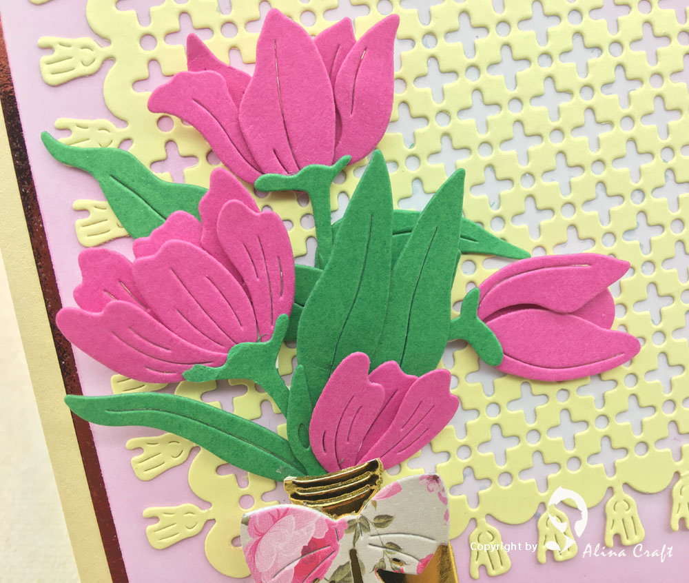 Alinacraft Metal Cutting Dies Collage Build Up Tulip Flower Spring