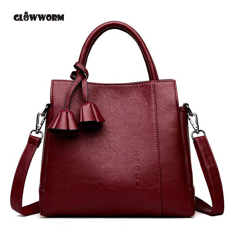 Women Bag High Quality Leather Tote Brand Name Bag Ladies Handbag Lady Evening Bags Solid Female Messenger Bags Travel Fashion S