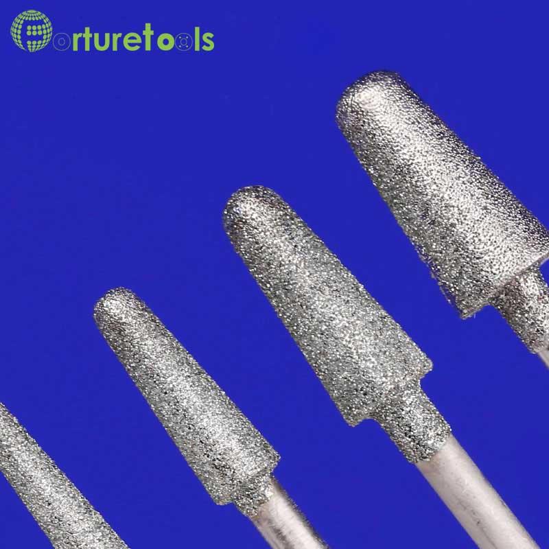 50ks diamantový bodový dremel rotační nástroj namontovaný kola - Brusné nástroje - Fotografie 2