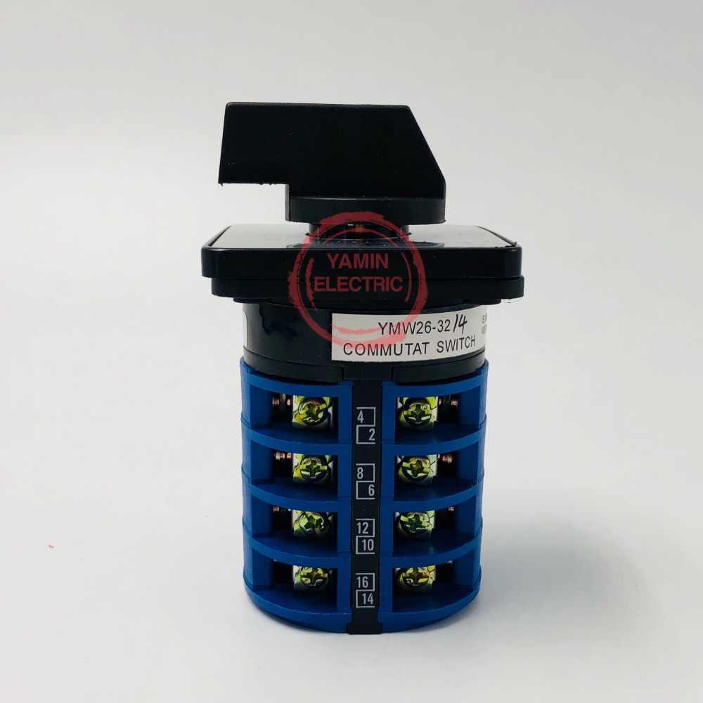 LW26 YMW26-32/4 поворотный переключатель многоступенчатый позиции 690 V 32A 4-полюсный автоматический 16 Винтовая клемма селектор Универсальный переход cam главный выключатель