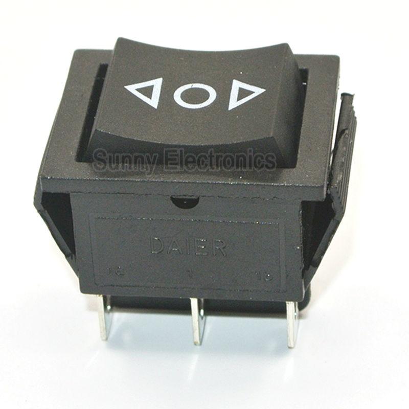 12V 6-Pin DPDT Power Window Momentary Rocker Switch AC 250V/16A 125V/20A (ON)-OFF-(ON) Switch