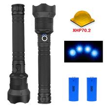 XLamp xhp70.2 50000 most powerful flashlight led lumens usb Zoom torch xhp70 xhp50 18650 or 26650 Rechargeable battery hunting