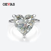 Elegant Moissanite Heart S925 Silver wedding rings for women Top quality White Pink Red Blue Purple Yellow Birth stone jewelry