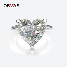 OEVAS 100% 925 Sterling Silver Created Moissanite Wedding Rings For Women Sparkling Colorful  Birthstone Fine Jewelry Wholesale