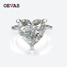 OEVAS 100% 925 فضة مكون مويسانيتي خواتم الزفاف للنساء تألق جوهرة الملونة غرامة مجوهرات بالجملة