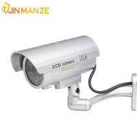 New Waterproof Outdoor Indoor Fake Bullet Camera Led Light Fake Security Camera Simulation CCTV Camera Video