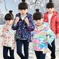 Children's clothing girls child winter wadded jacket 2016 child cotton-padded jacket down girl winter coat