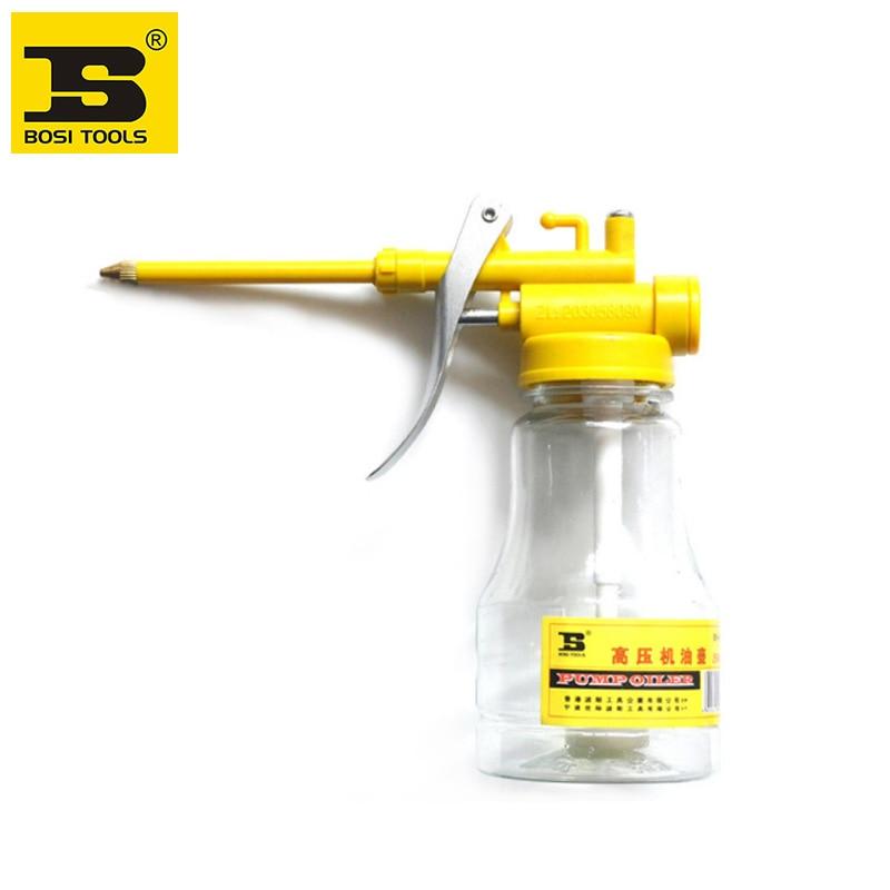 Free shipping BOSI Transparent high pressure machine oil can