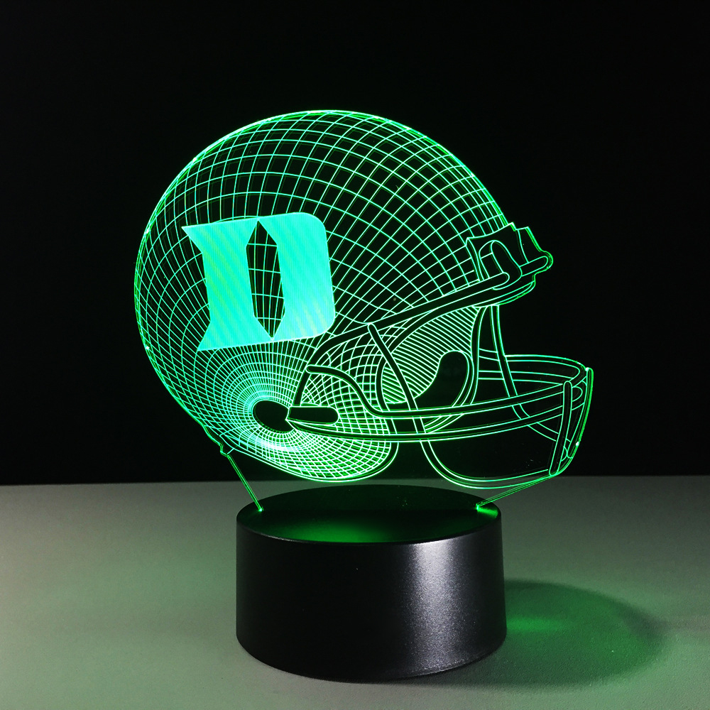 7 Colors Change 3D LED Football Helmet Night Light USB Rugby Cap Table Lamp Bedroom Bedside Decor Gifts Lampara Sleep Lighting