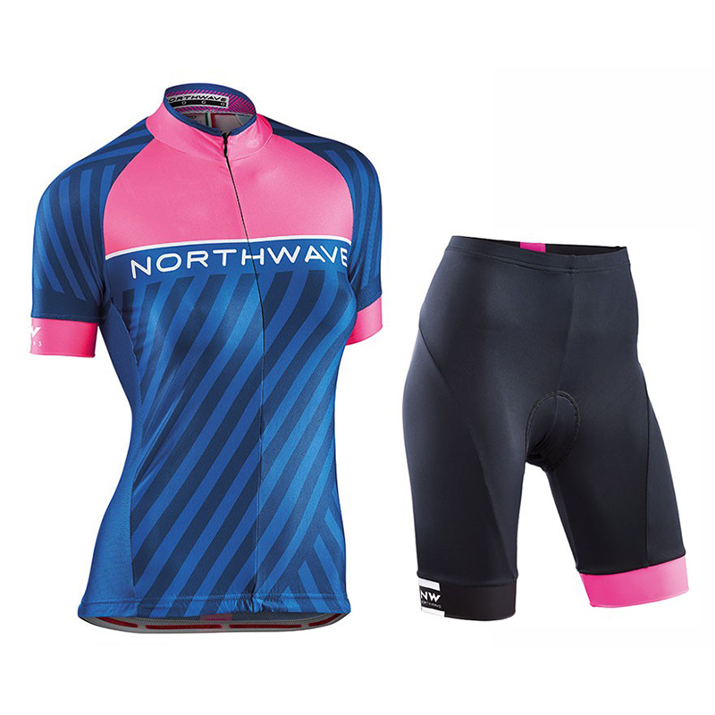 NW 2018 Northwave Women Summer Cycling Jersey Short Sleeve Set Maillot bib shorts Clothes Quick Dry Bike Wear Clothing