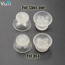 YuXi 2pcs luminous Clear Analog Joystick Stick grip Cap for PS4 XBOXOne joypad Controller