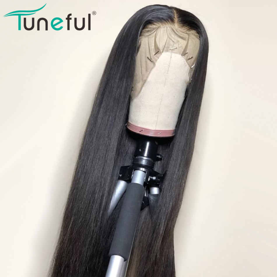 Lace Front Human Hair Wigs Straight Pre Plucked Hairline Baby Hair 10- 26 Inch 150% Malaysian Remy Human Hair Lace Frontal Wigs(China)