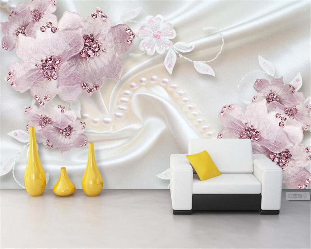 3d Tapeten Blumen | Us 9 9 34 Off Beibehang 3d Tapete Mode Blume ...