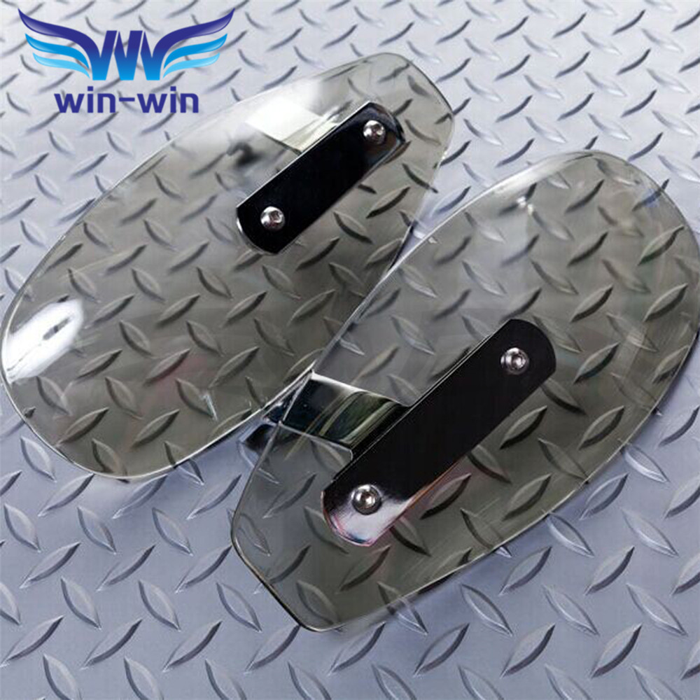 popular  universal motorcycle wind shield handle hand guard ABS motocross transparent handguards   FOR Honda HORNET 250 600 900 motorcycle accessories wind shield handle hand guards plastic motocross transparent handguards for honda big sheep fjs400 fjs600
