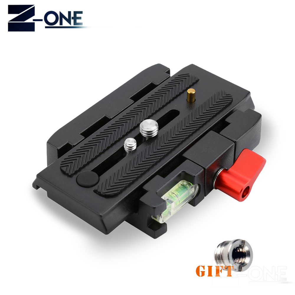 HEIßER Kamera Stativ Einbeinstativ P200 QR Aluminium Klemm Adapter + Schnellwechselplatte für Manfrotto 501 500AH 701HDV 503HDV Q5
