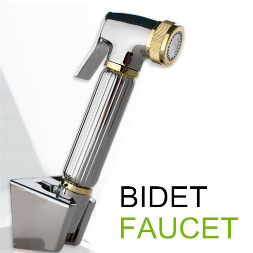 100%Brass Women Hand held Bidet Shower set Toilet Jet Cleaner ...