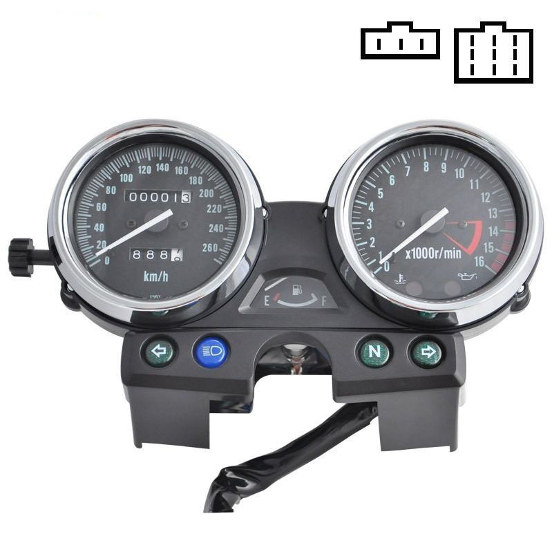 scooter parts/ Speedometer Gauges Cluster Tacho/Odometer For Kawasaki ZRX400 ZRX750 ZRX1100 Kmh 260 /free shipping scooter parts 8pcs chrome speedometer gauges bezels and horn cover case for harley davidson touring free shipping