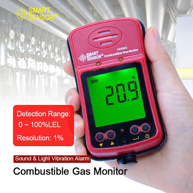 With Box+Battery Portable combustible gas detector hand-held port flammable gas Leak analyzer AS8902 0-100%LEL measuring range