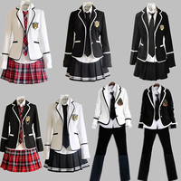 Korean uniforms and Japanese Sailors Summer Girl High School Students Korean Uniforms Boys Girls British School Uniform Clothing