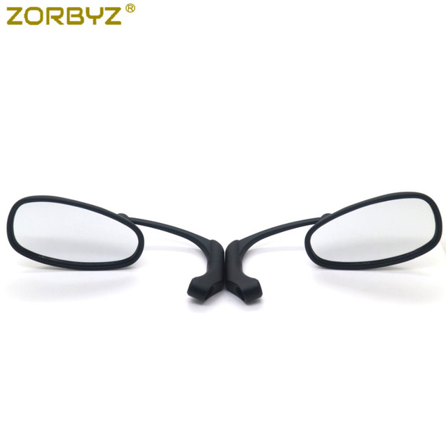 ZORBYZ Motorcycle Black L-bar Retro Oval Rearview Side Mirror For GN/ CG Cafe Racer Custom