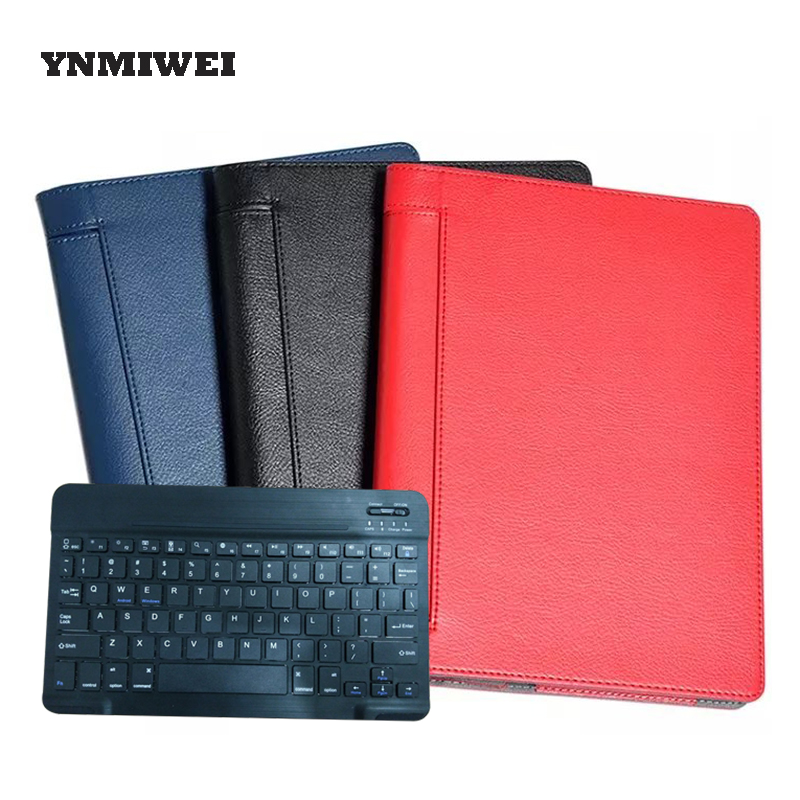 купить Tablet Case For Lenovo Yoga Tab3 10 Plus YT-X703F X703 With Bluetooth Keyboard PU Leather Lichi Tablet Pad Case Protect YNMIWEI недорого