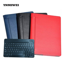 Tablet Case For Lenovo Yoga Tab3 10 Plus YT-X703F X703 With Bluetooth Keyboard PU Leather Lichi Tablet Pad Case Protect YNMIWEI