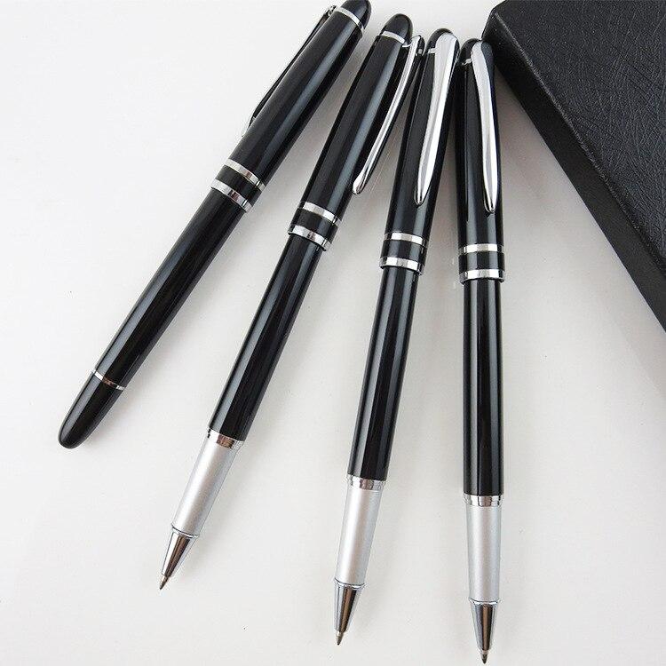 Presentpenna med presentask högkvalitativ metall presentpenna med boxrulleboll penna svart bläck kontorsmaterial gåva kulspetsgrossist grossist