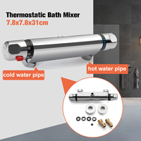 Xueqin Thermostatic Bath Mixer Shower Control Valve Bottom Faucet Wall Mounted Hot And Cold Brass Bathroom Mixer Bathtub Tap