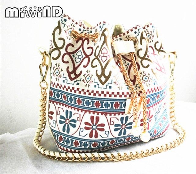 a5ee10df84b2 2017 New Women Handbag Houndstooth Shoulder Bags Bucket bag Tote Purse  Flower Messenger Hobo Satchel Bag Cross Body Bags