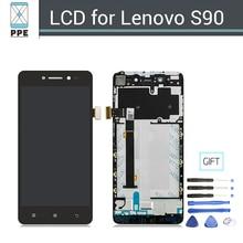Продажа Best оригинальный ЖК-дисплей Дисплей для Lenovo Sisley S90 ЖК-дисплей Экран сенсорный дигитайзер Рамки полная сборка Замена черный + Инструменты