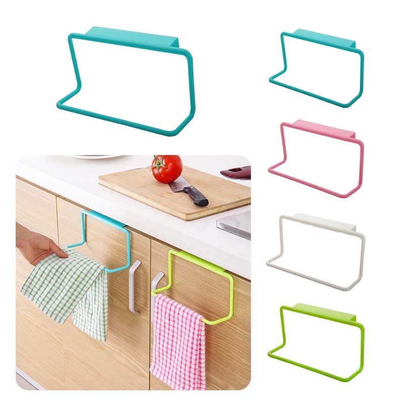 Hanger Organizer Towel-Rack-Holder Cupboard Cabinet Bathroom Kitchen Plastic Rag  title=
