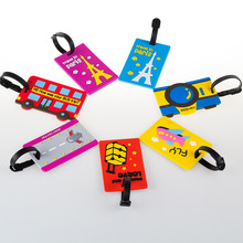 BXJZHTLRZK Travel equipment cute cartoon luggage tag PVC soft rubber bag running Lee boarding pass creative travel