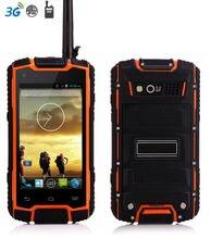 IP68 Resistente Teléfono Android Teléfono A Prueba de agua A Prueba de Golpes Smartphone Quad Core Caza UHF PTT de Radio de Dos vías Walkie Talkie GPS 3G