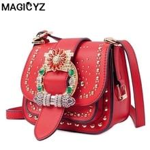 Famous Brand women Shoulder Bag Fashion diamonds Rivets Women s bag small Flap pocket Lady Crossbody