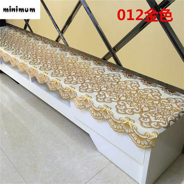 European Style PVC TV Cabinet Tablecloth Coffee Table Mats Bedside Cabinets  Dressing Table Shoe Cabinet Dust