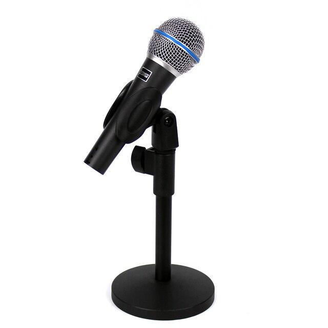 professional vocal dynamic wired karaoke microphone stand desktop adjustable mic holder for beta. Black Bedroom Furniture Sets. Home Design Ideas