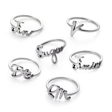 1 Pcs Fashion KPOP BTS Jung Kook Ring Popular Stainless Steel Bangtan Boys Jimin V Rap Monster ARMY Charms Jewelry(China)