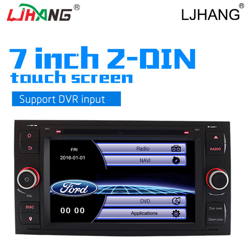 LJHANG 2 Din Car DVD For Ford Mondeo S-max Focus C-MAX Galaxy Fiesta GPS Navigation Radio FM Bluetooth multimedia video Player