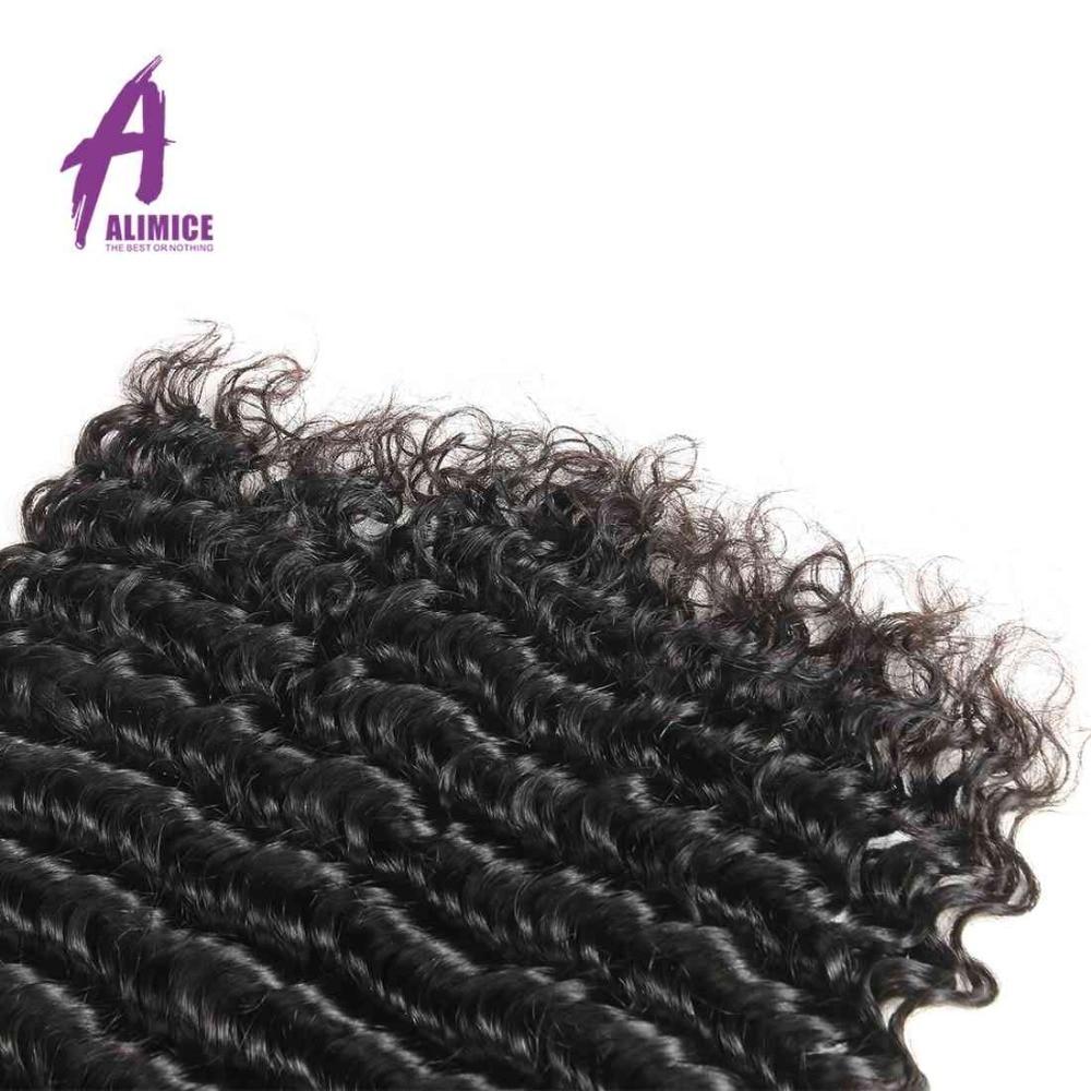 Alimice las brazilski las z globokimi valovi 1/3/4 snopi 100% remi - Človeški lasje (za črne) - Fotografija 5