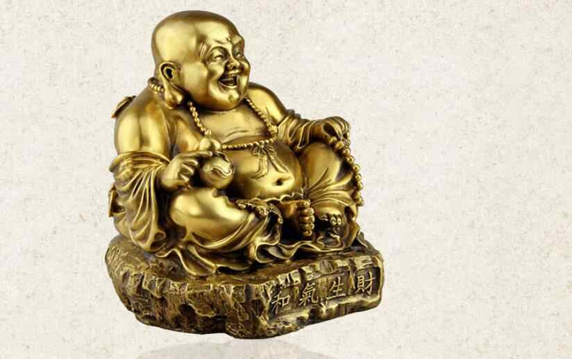 SUIRONG---414+++  The opening of Maitreya copper Buddha Friendliness is conducive to business success