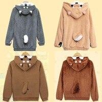 Hoodies Sweatshirts Shiba Inu Husky Hoodie Coat Pullover Womens Girls Japan Hooded Kawaii Totoro Shiba Inu Cosplay Sweatshirt