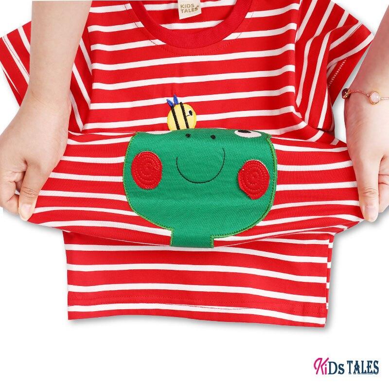 Baby girls T-shirts cotton summer dress girls kids tales short sleeve clothing children clothes T shirt cartoon dress T-shirts