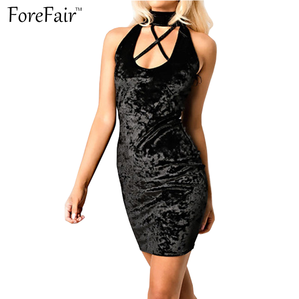 Velvet curtain club - Forefair Pink Grey Black Trendy Velvet Sexy Hollow Out Club Party Dresses Plus Size Sleeveless Slim Mini Women Dress