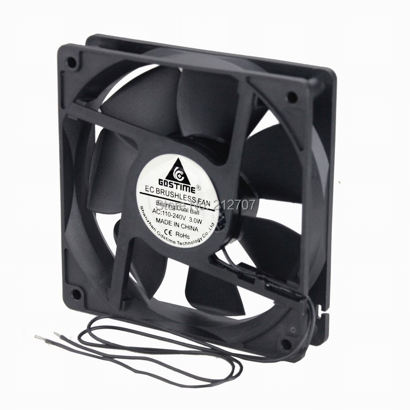 Ball Bearing 110V 120V 220V 240V 120x120x25mm Computer Cooling Fan With Grill