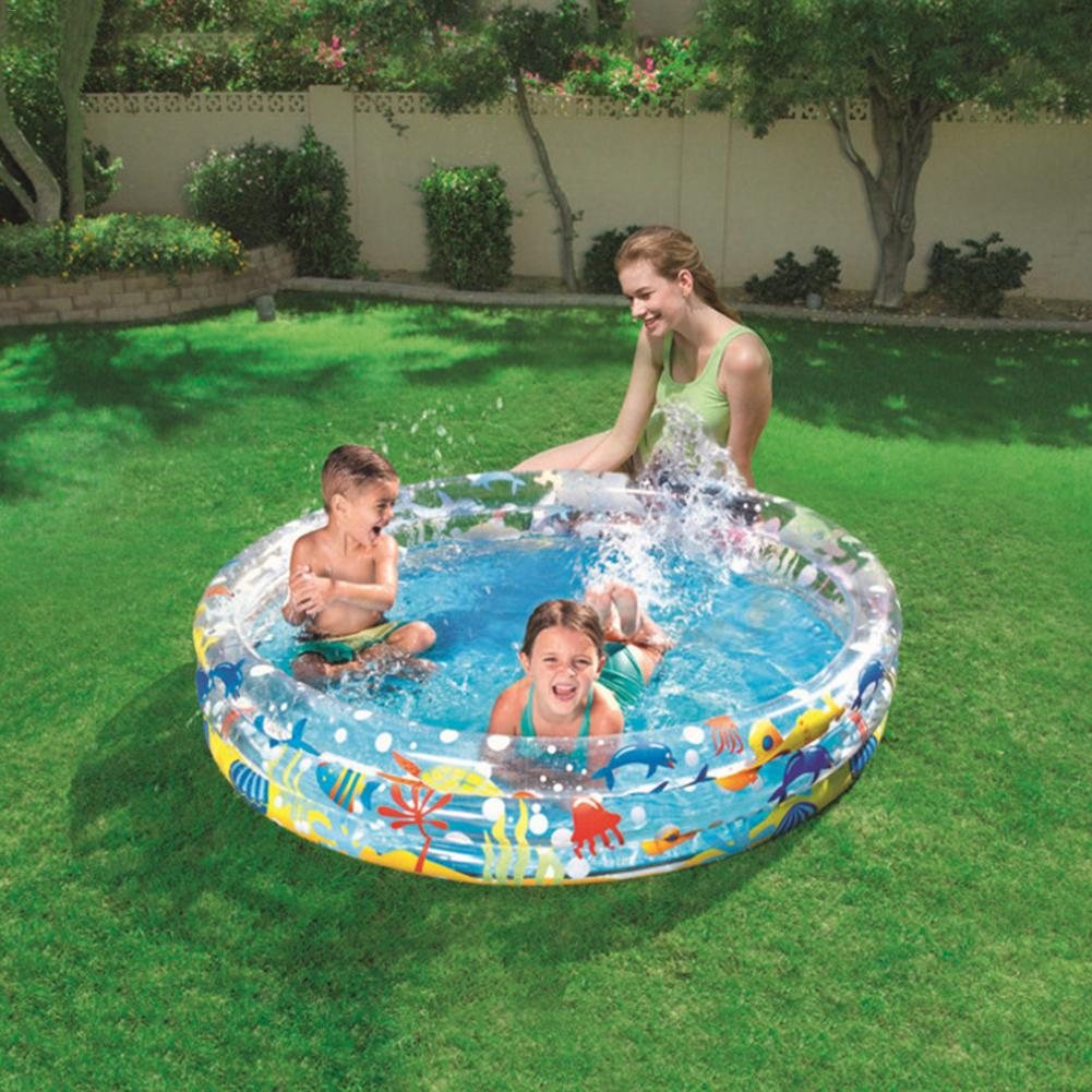 152*30CM Children's Home Use Paddling Pool Large Size Inflatable Round Swimming Pool Kids Inflatable Pool