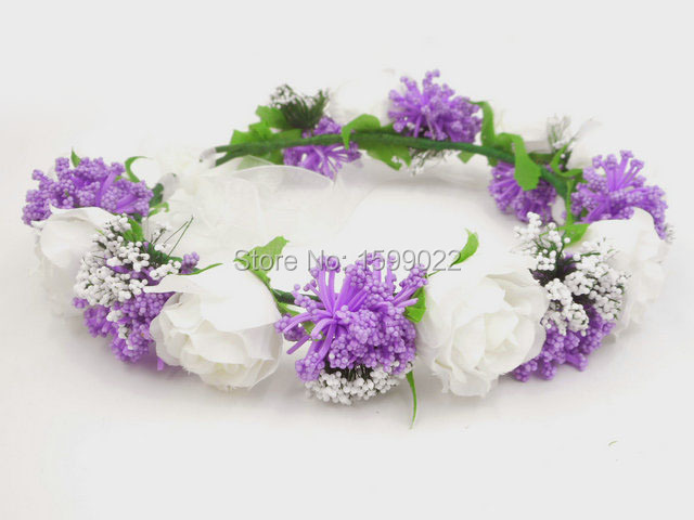 Gypsophila Baby/'s Breath FLOWER Crown Halo Cheveux Mariée Mariage Bandeau