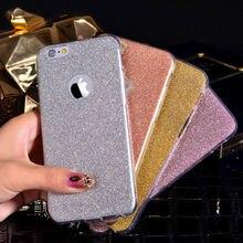 Lovecom para iphone 5 5s se 6 6 s mais quente glitter em pó Ultra Fina e Macia TPU Tampa Do Telefone de Volta Caso de Telefone Capa Fundas Gel Coque