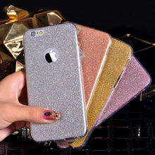 LOVECOM For iPhone 5 5S SE 6 6S Plus Hot Glitter Powder Ultra Thin Soft TPU