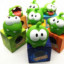 Hot1Pcs Rope Frog Vinyl Rubber Android Games Doll Cut The Rope OM NOM Candy Gulping Monster